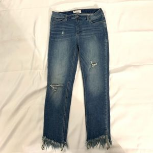Free people great heights chewed frayed hem ankle